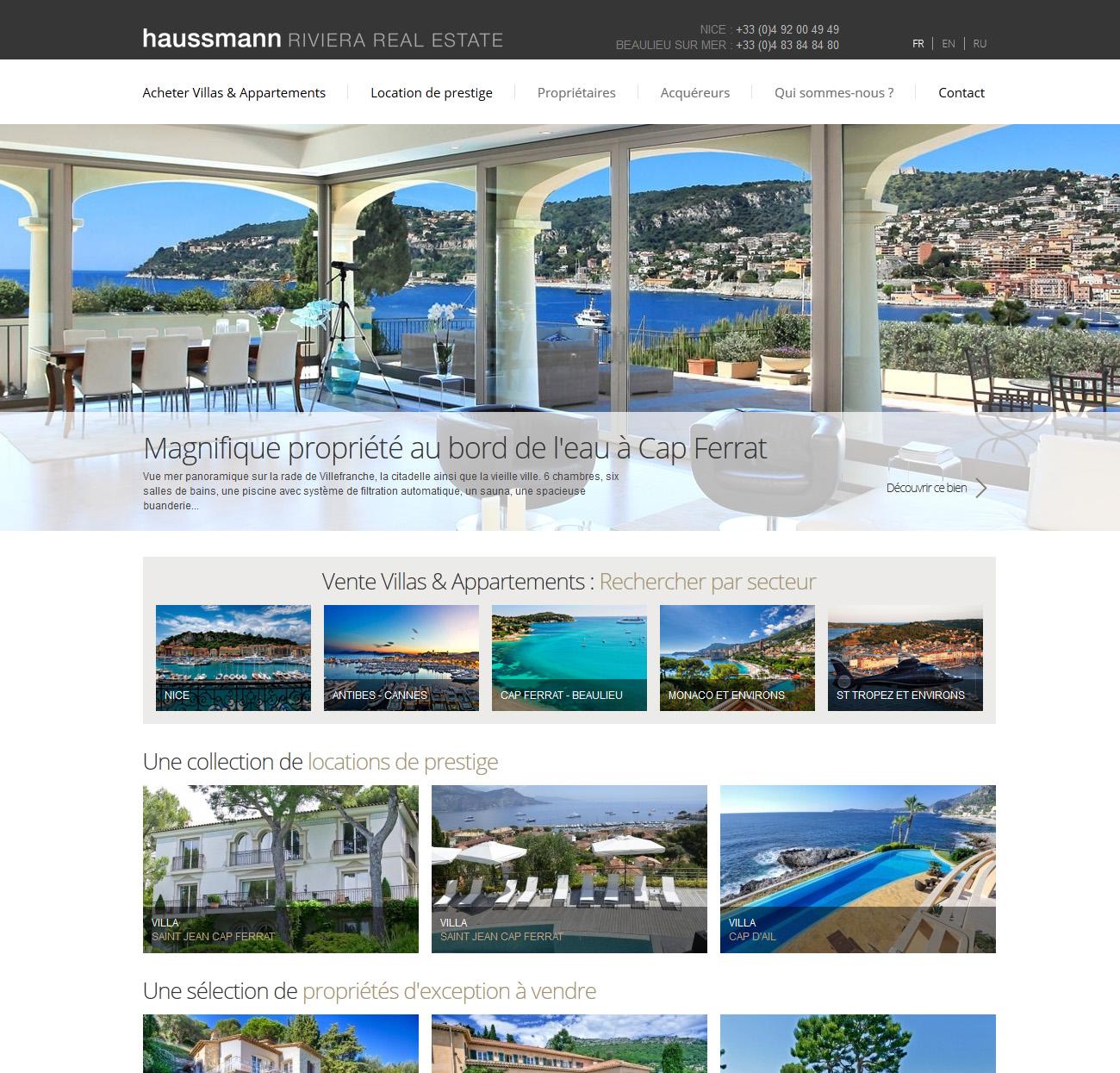 Site responsive Haussmann