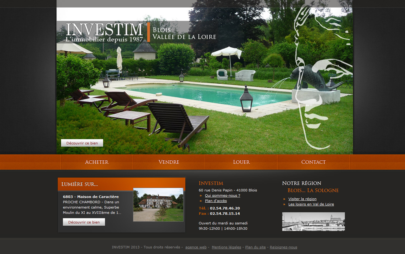 Site immobilier cr ation de l 39 agence web cvmh solutions for Site immobilier