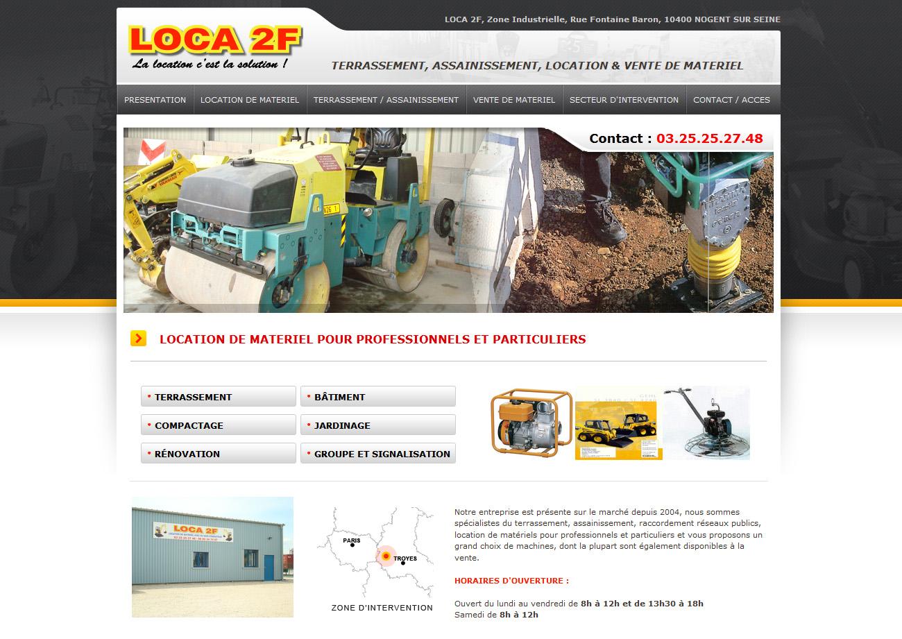 Refonte de site internet pour loca2f location et vente de for Site de location