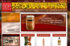 Page d'accueil du site Magento catalogue développé par l'agence web CVMH Solutions