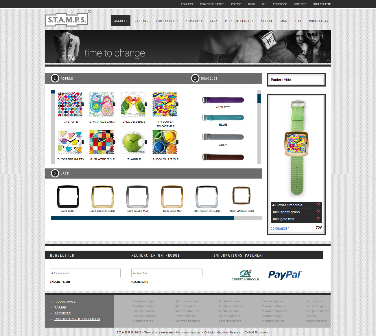 création site marchand magento