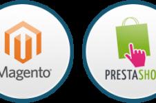 Site e-commerce Magento et Prestashop